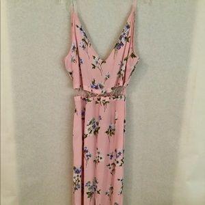 Topshop floral pink dress